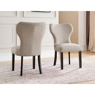 Groovy Swanston Wing Back Upholstered Dining Chair Set Of 2 Pabps2019 Chair Design Images Pabps2019Com