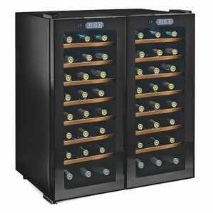 Silent Series 48 Bottle Dual Zone Thermoelectric Wine Cooler by Jean Dubost