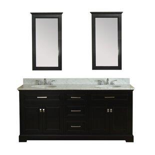 Coston 73 Double Bathroom Vanity Set by Red Barrel Studio