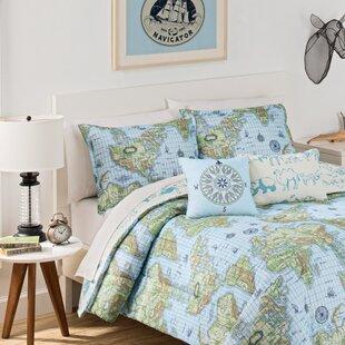 Buon Viaggio 3 Piece Reversible Comforter Set