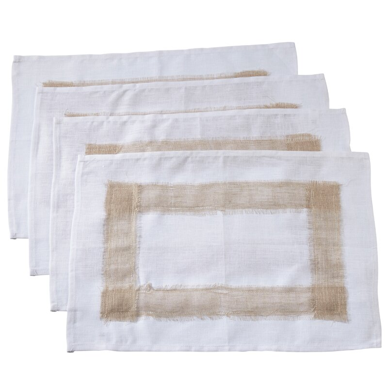 Charlton Home Chaisson Linen Banded 19 Placemat Wayfair