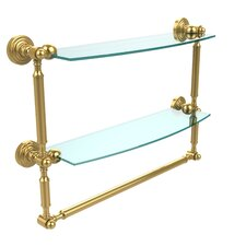 Retro Wave Place Double Wall Shelf by Allied Brass