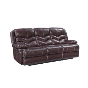 Scribner Power Motion Leather Reclining Sofa by Red Barrel Studio