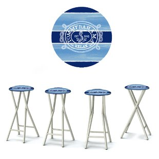 Tommy Bahama 30'' Patio Bar Stool with Cushion (Set of 4)