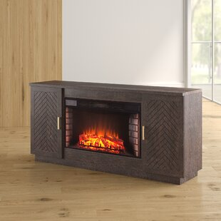 Scriber Widescreen 63 TV Stand with Fireplace by Brayden Studio