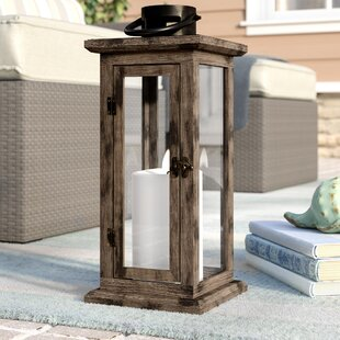 Shop For Wood/Glass Lantern By Beachcrest Home