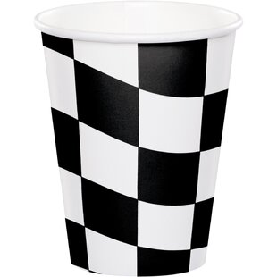 Check Paper Disposable Cup (Set of 24)
