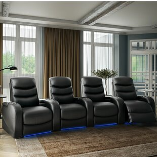 Stealth HR Series Curved Home Theater Row Seating Row of 4