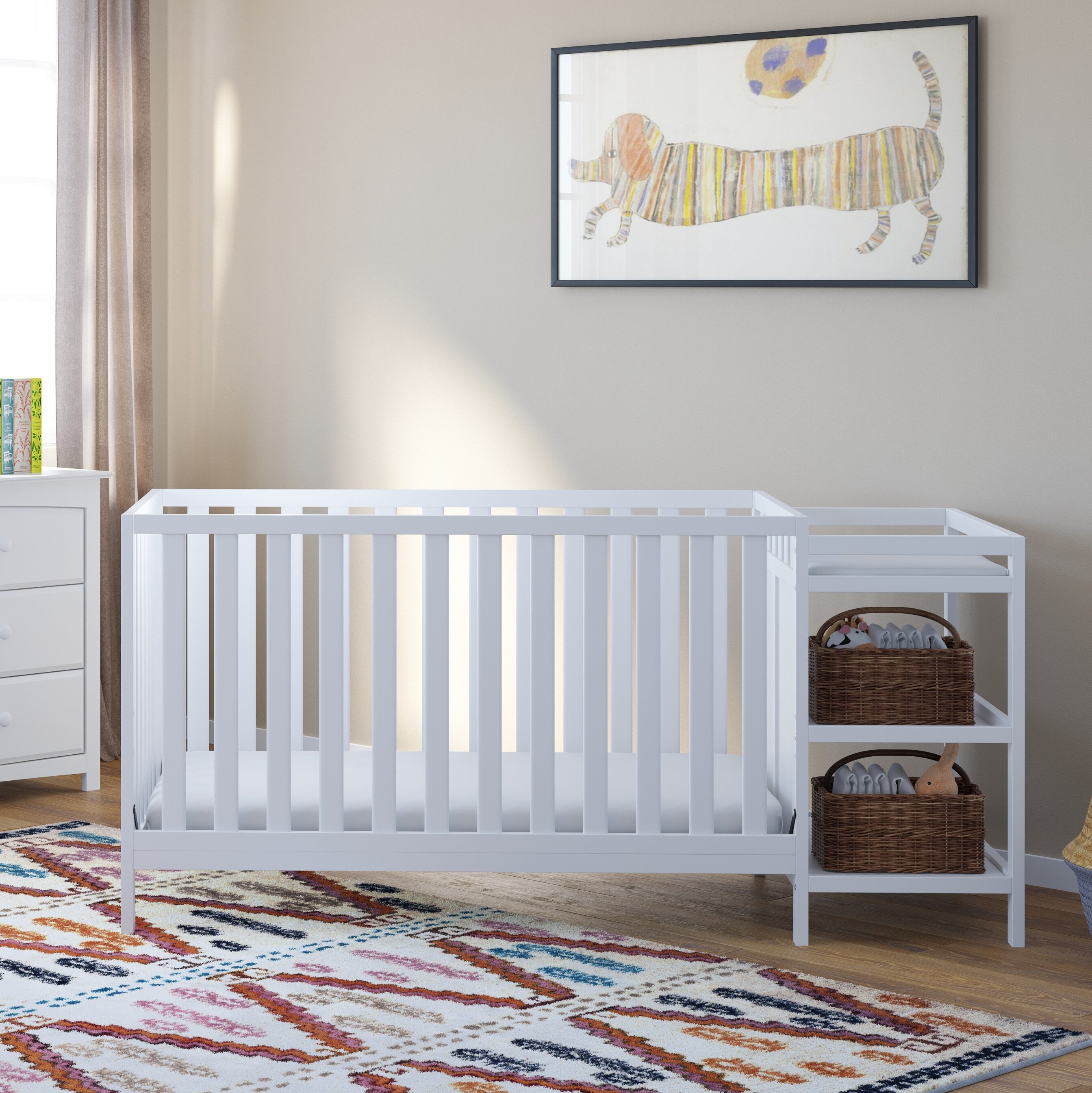 Storkcraft Pacific 4 In 1 Convertible Crib And Changer Combo