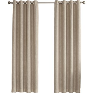 Gilby Solid Room Darkening Grommet Single Curtain Panel