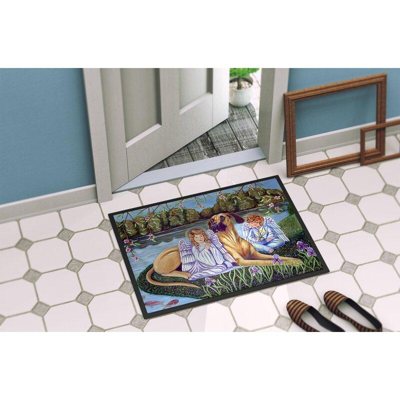 Caroline S Treasures Angels With Great Dane Non Slip Indoor Door Mat Wayfair