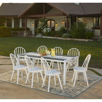 Chenery 9 Piece Indoor/Outdoor Dining Set by Alcott Hill