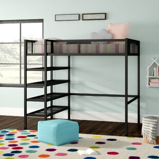Deals Debbi Twin Loft Bed with Bookcase by Harriet Bee Reviews (2019) & Buyer's Guide