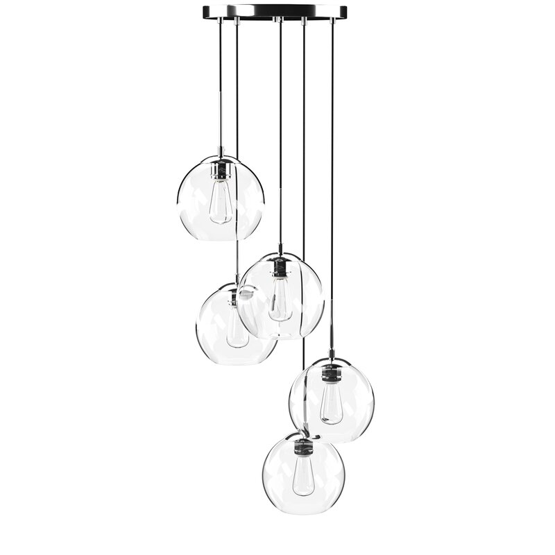 Black Yearwood 5 Light Cluster Pendant by Mercury Row