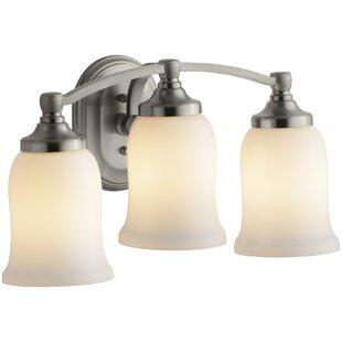 Bancroft Triple 3-Light Vanity Light by Kohler