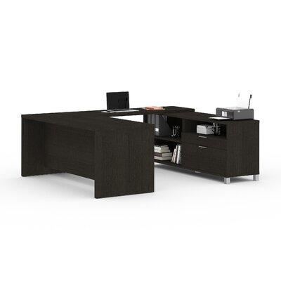 Comm Office Heyworth 3-Piece Reversible U-Shape Desk Office Suite Colour: Grey