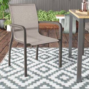 Handley Stacking Patio Dining Chair (Set of 4)