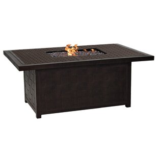 Classical Aluminum Propane Fire Pit Table by Leona Reviews