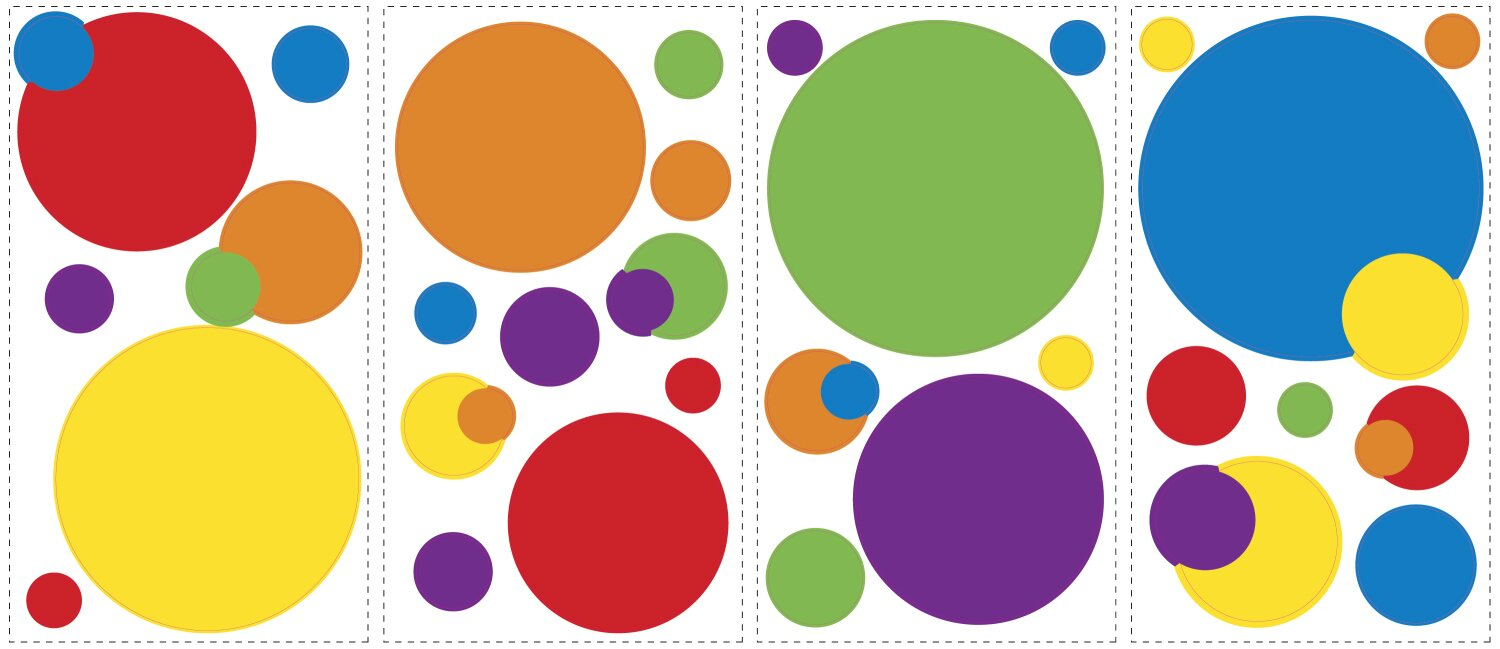 primary color dots wall decal - Primary Color Pictures