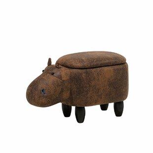 Featherste Hippo Storage Kids Ottoman by Harriet Bee