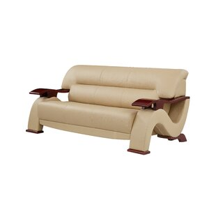 Pecor Wood Arm Sofa