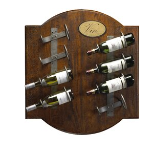 French Accents 8 Bottle Wall Mounted Wine Rack by French Heritage