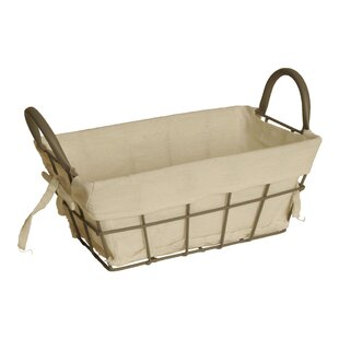 Compare prices Decorative Storage Metal Basket By August Grove