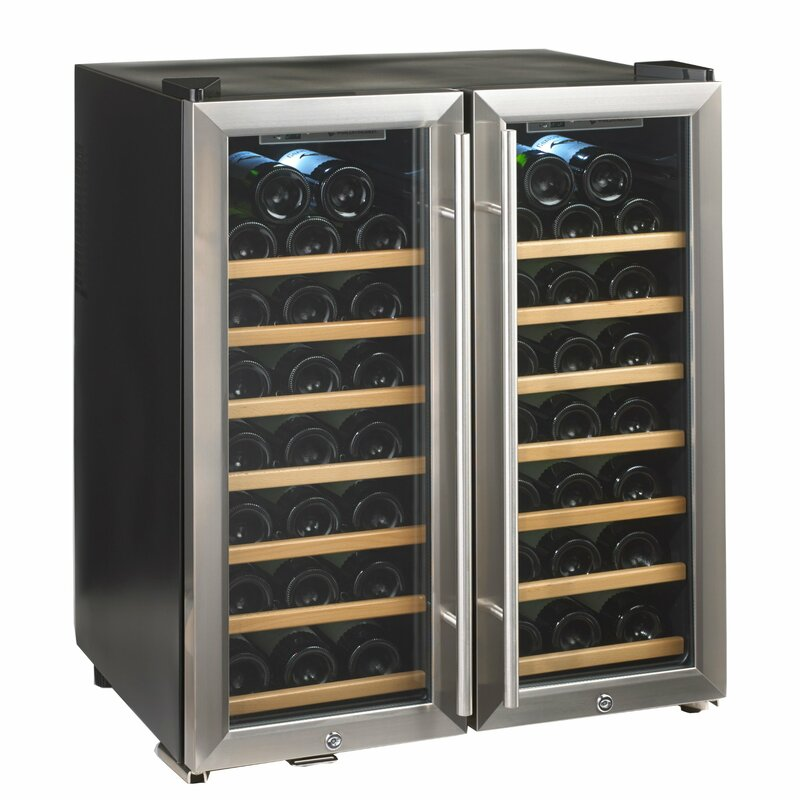 48 Bottle Silent Series Dual Zone Freestanding Wine Cooler  sc 1 st  Wayfair & Wine Enthusiast Companies 48 Bottle Silent Series Dual Zone ...