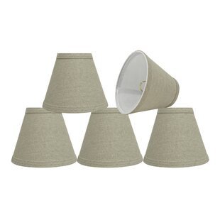 Top Reviews 6'' Fabric Empire Lamp Shade (Set of 5) By Rosecliff Heights