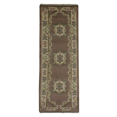 Fetters Oriental Hand Knotted Wool Brown Area Rug Astoria Grand