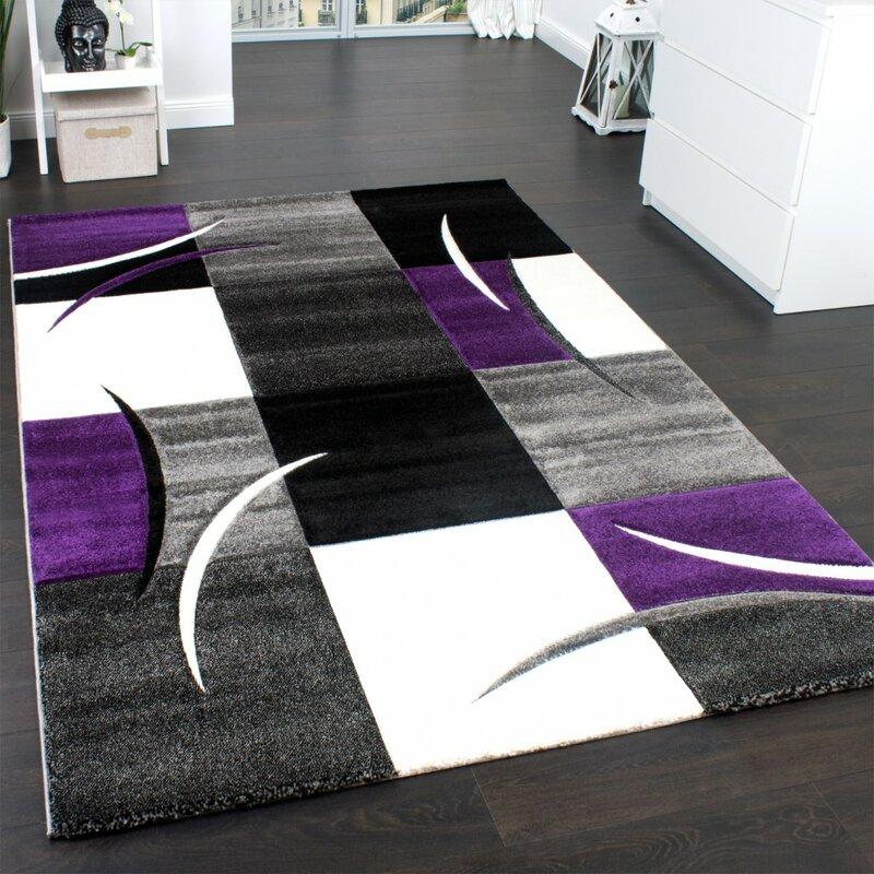 Zipcode Design Perla Purple Black Grey Rug Reviews Wayfair Co Uk