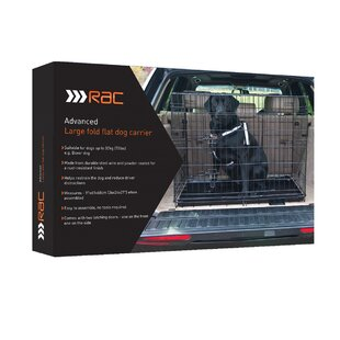 Rac Advanced Fold Flat Crate with Mattress & Bandana by Pet Brands