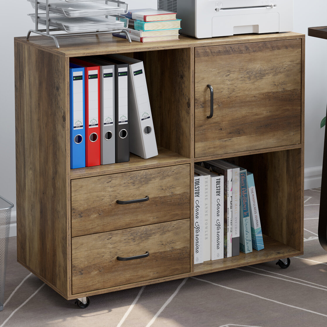 Picture of: Union Rustic Valles Mobile 2 Drawers Lateral Filing Cabinet Reviews