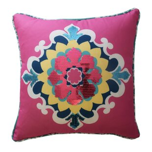 Bollywood Sequin Polyester Throw Pillow