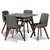 Volpe 5 Piece Solid Wood Dining Set by Corrigan Studio®