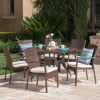 Outdoor 7 Piece Dining Set Cushions by Highland Dunes Looking for