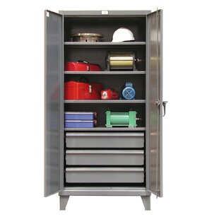 78H x 36W x 24D 2 Door Storage Cabinet by Strong Hold Products