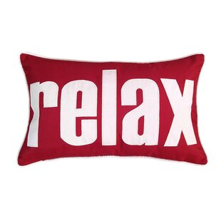 Relax Indoor/Outdoor Lumbar Pillow by Edie Inc. No Copoun