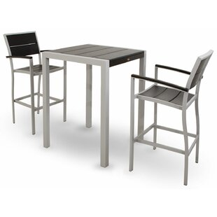 Surf City 3 Piece Bar Height Dining Set