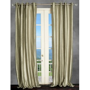 Solid Semi-Sheer Thermal Grommet Single Curtain Panel