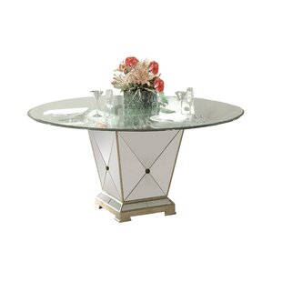 Roehl Mirrored Pedestal Dining Base Willa Arlo Interiors