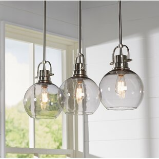 Hanging kitchen table lights wayfair burner 3 light kitchen island pendant workwithnaturefo