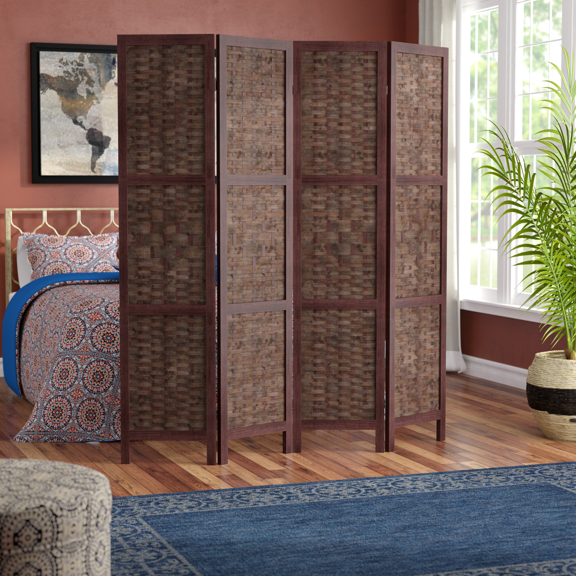 World Menagerie Collins 4 Panel Room Divider Reviews Room