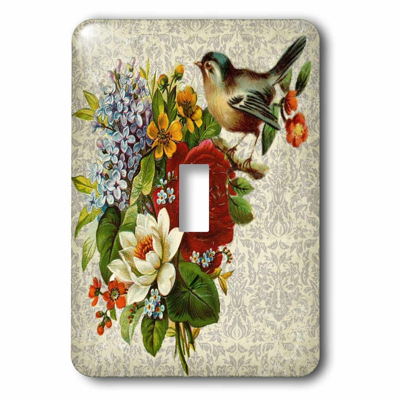 3drose Flowers With Bird 1 Gang Toggle Light Switch Wall Plate Wayfair