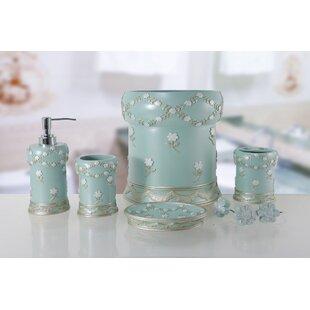 Aqua Blue Bathroom Accessories Wayfair - Green and blue bathroom accessories