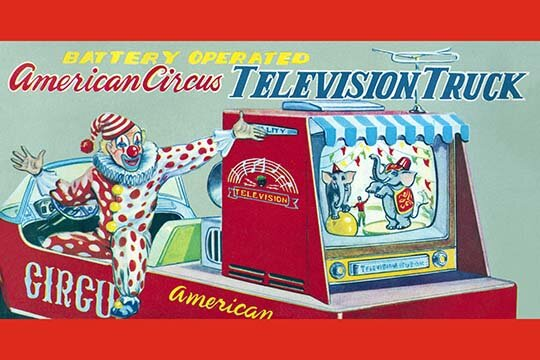 'American Circus Television Truck' Wall Art