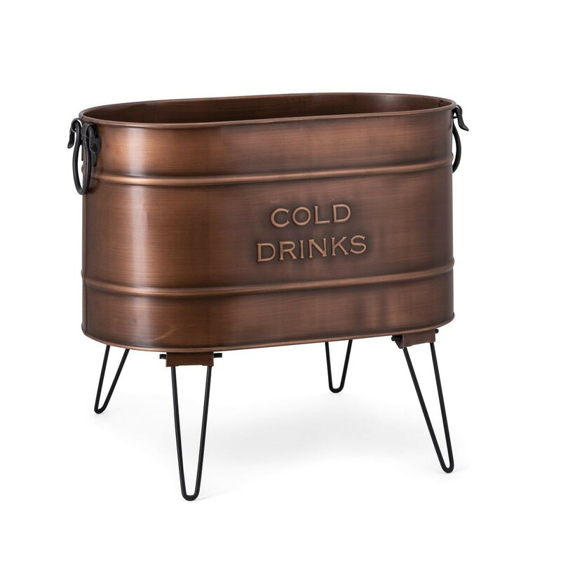 Touch of Class Copper Grove Ice Bucket Beverage Stand Copper One Size