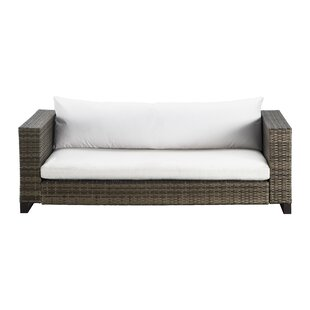 Oceanside Outdoor Wicker Loveseat With Cushions