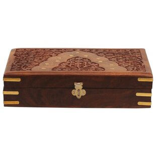 Great choice Handcrafted Floral Carving Storage Jewelry Box By World Menagerie