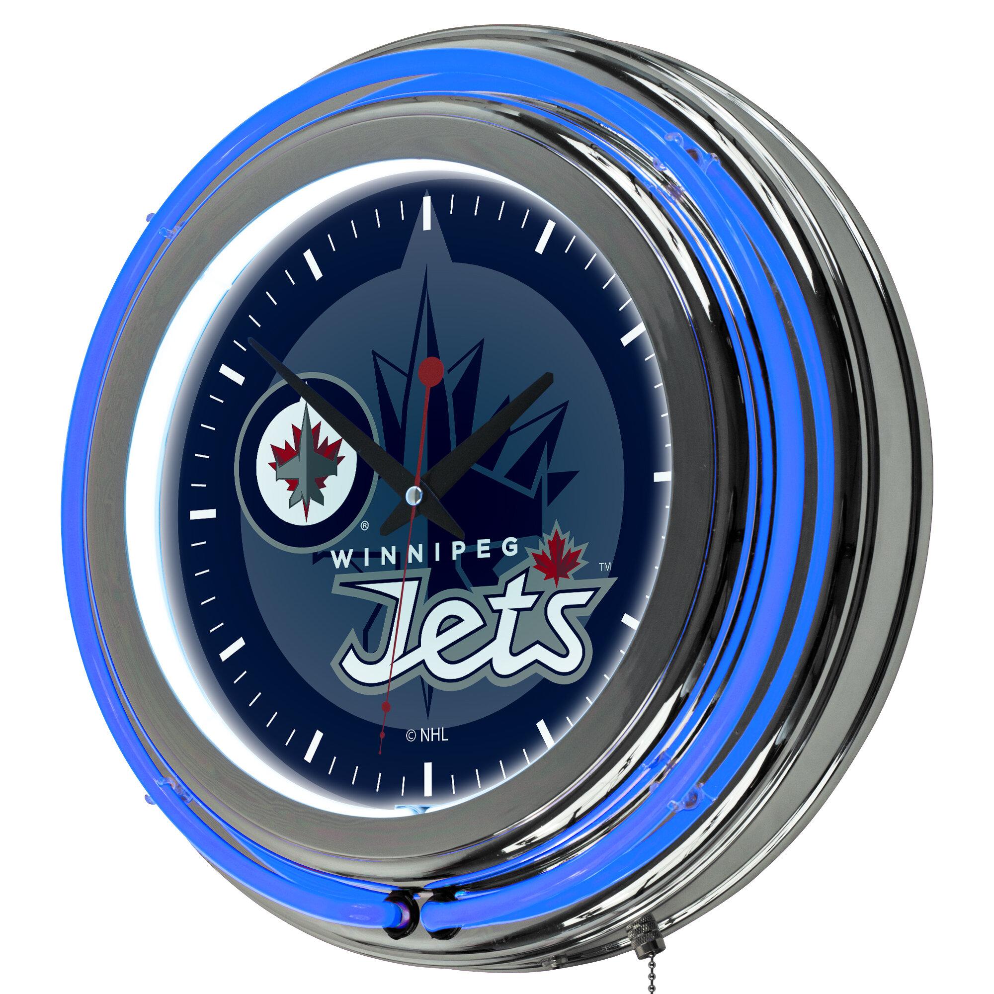 Trademark Global Nhl 14 5 Wall Clock Reviews Wayfair